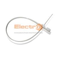 Хомут кабельный Хб 4,3mm х 220mm с отверстием пластиковый под винт белый Electro