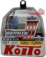 Автолампы Koito WhiteBeam III / 4200K / HB3 / 2шт.