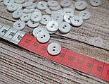 Пуговицы белые 15 мм на две дырочки., фото 2