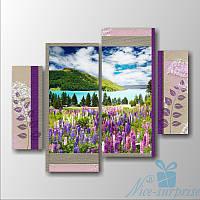 Модульная картина Цветы в горах из 4 фрагментов, фото 1