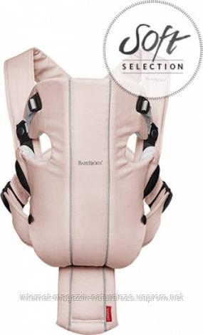 Рюкзак-кенгуру BabyBjorn Original розово-серый, фото 2