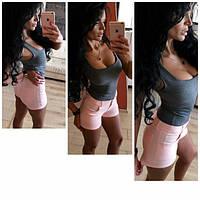 Женские летние джинсовые мини-шорты