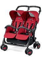 Прогулочная коляска для двойни Peg-Perego Aria Shopper TWIN Classico Mod RED