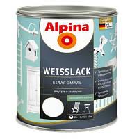 Краска универсальная ALPINA WEISSLACK шелковисто-матовая 2.5л, фото 1