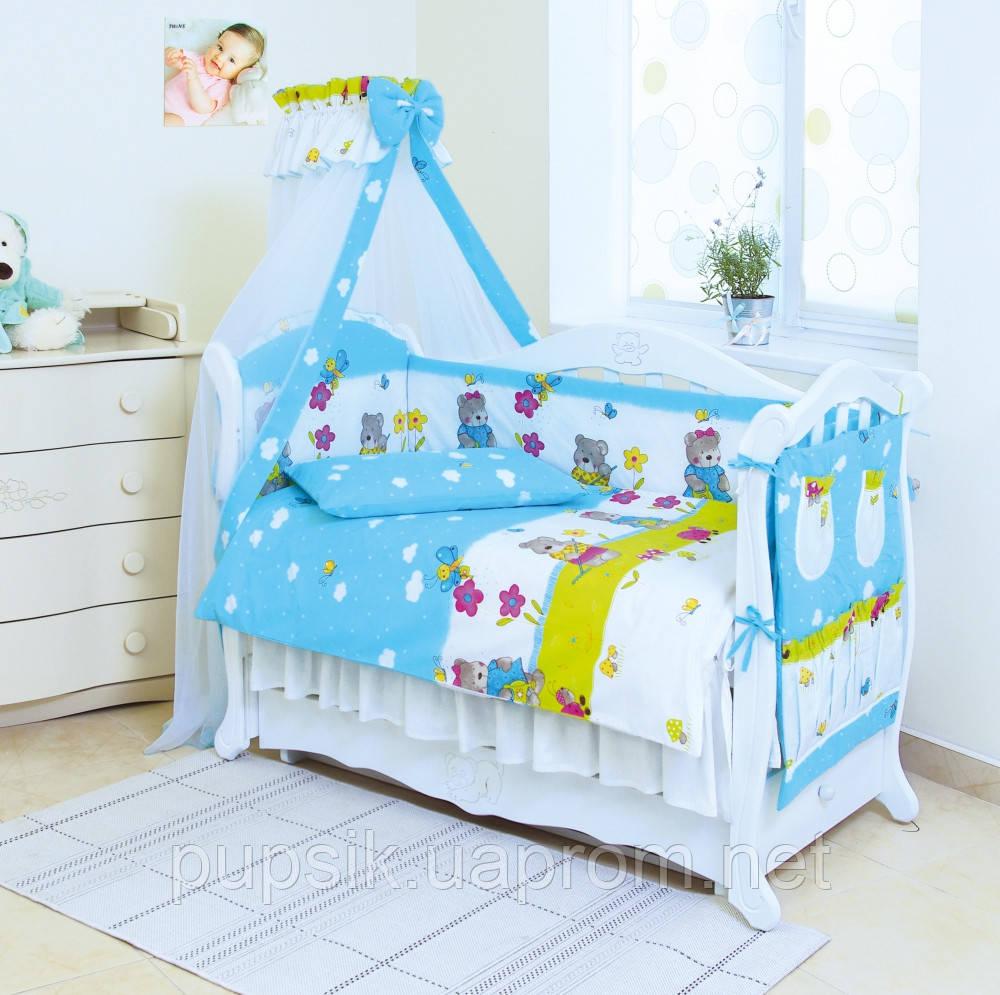 Постельный комплект для новорожденного Twins Comfort Садовники (8 предметов)