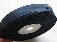 Лента атласная ширина  1,2 см. полная катушка 22,7 м\25 ярдов синий