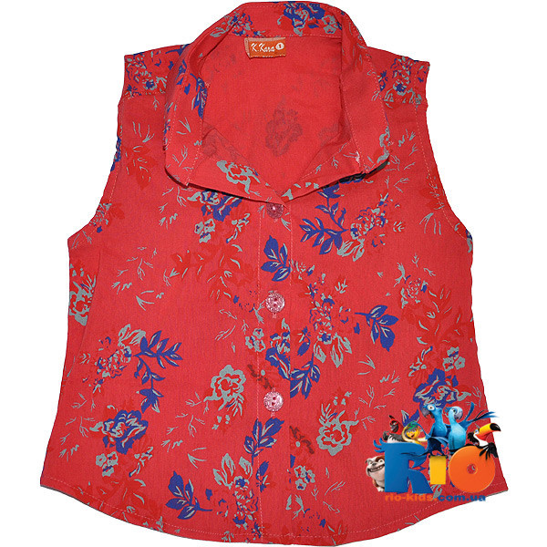 Детская летняя рубашка в цветочек , для девочек от 1-4 лет