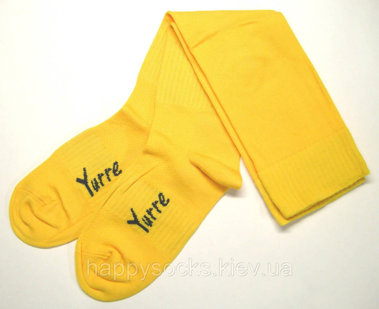 Мужские футбольные гетры желтого и лимонного цветов