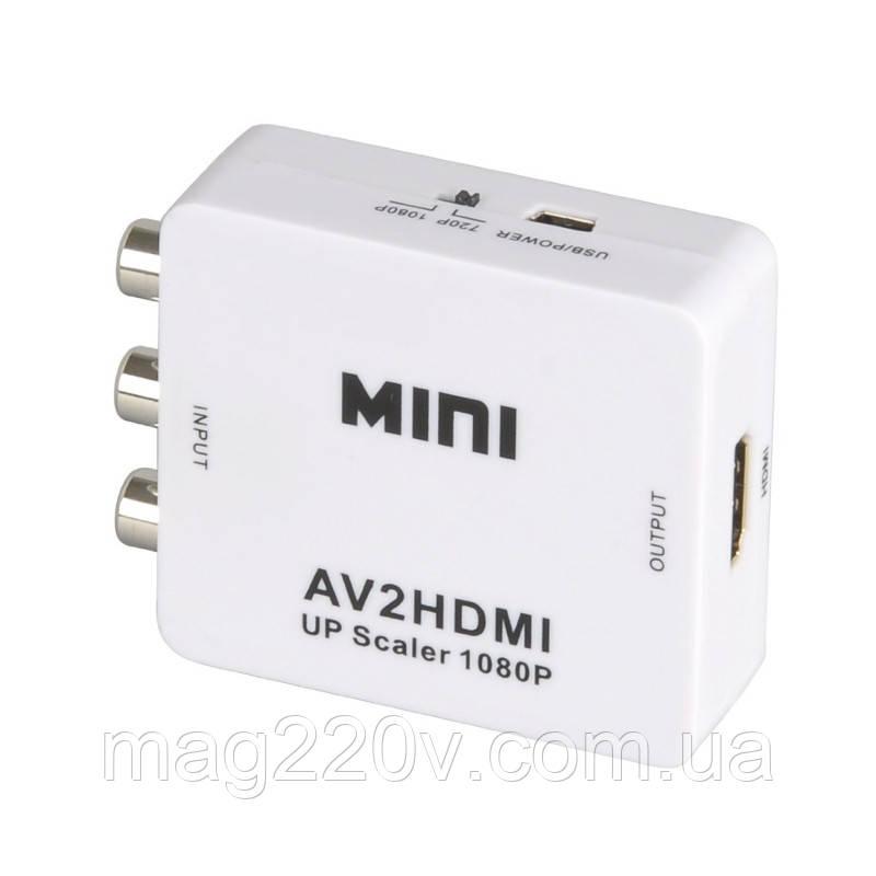 Переходник. конвертер (преобразователь) из RCA в HDMI