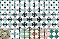 Декоративная цементная плитка ручной работы в марокканском стиле, 20х20 см. Дизайнерский орнамент, фото 1