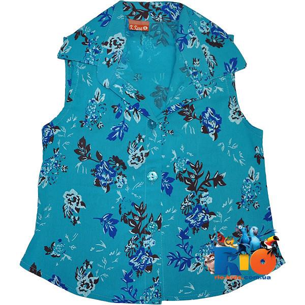 Летняя рубашка в цветочек , для девочки от 5-8 лет
