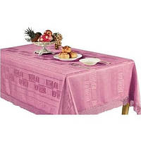 Скатерть ARYA Pezza с гипюром 160х220 см. 1550141 2009 Розовый