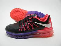Женские кроссовки Nike Air Max 2015 фиолетово-розовые кожа, фото 1