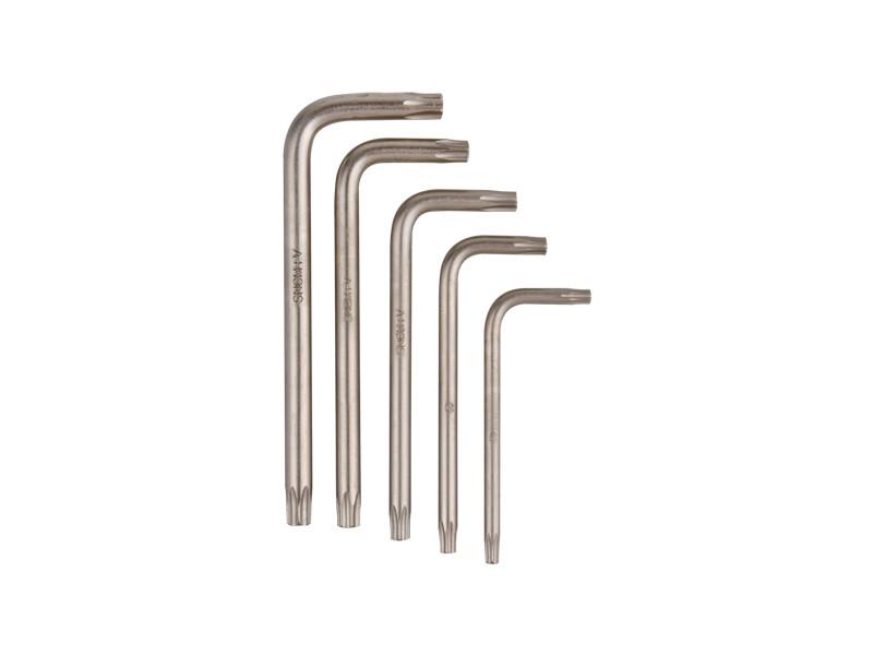 """Набір ключів """"Splin"""" 5 од. (M5, M6 M8, M10, M12) Г-образних KINGTONY 20505PR"""