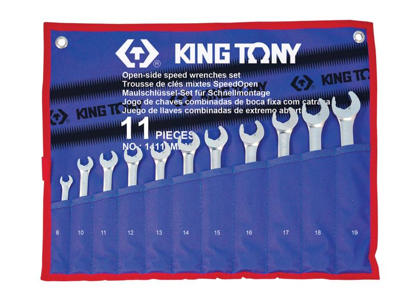 Набір ключів комбі з акселератором 11ед (8-19мм) KINGTONY 14111MR