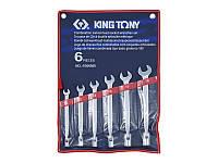 Набор ключей рожково-торцевых с карданом 6ед KINGTONY 1B06MR