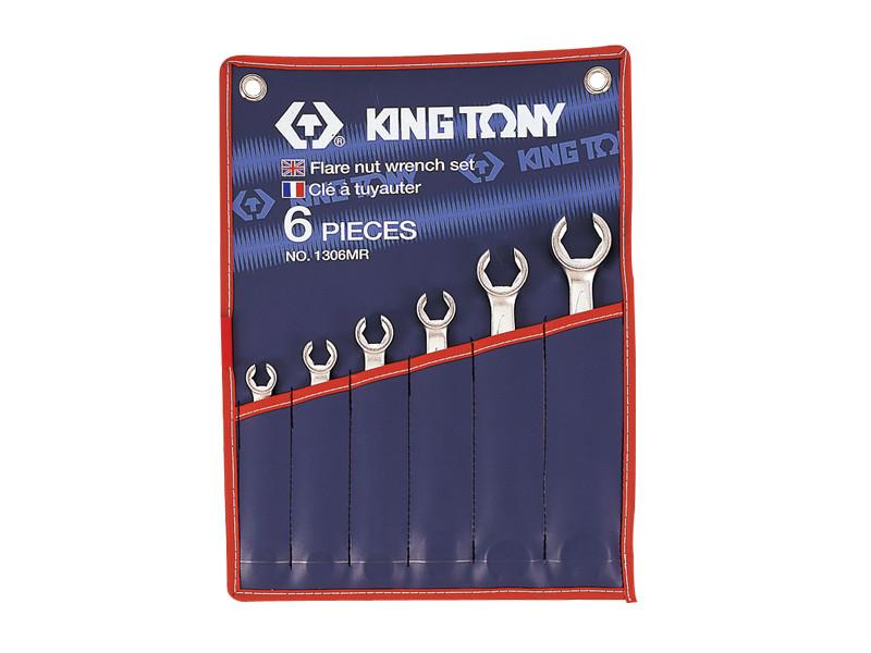 Набір ключів ріжкових силових 6 од. дюймові KINGTONY 1306SR