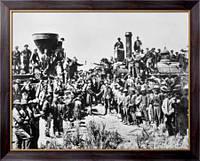 Картина  Празднование рабочими завершения  строительства трансконтинентальной железной дороги, Неизвестен