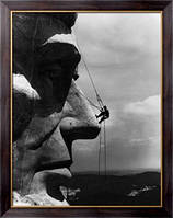 Картина Ремонтник на лице Мемориала на Гудзон Борглум Авраама Линкольна с горы Рашмор , Неизвестен