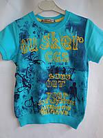 Детская летняя одежда футболка для мальчиков подросток