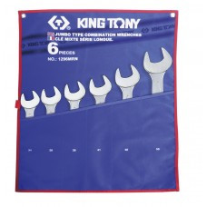 Набір комбінованих ключів (34-55 мм) King Tony 1296MRN 6 предметів