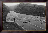 Картина Ущерб от  потопа реки Большого Томпсона, Неизвестен