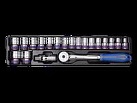 """Голівки (комплект) 1/2"""", 20 пр., 10-32 мм, в ложементі 6 гр. KINGTONY 9-4319MR01"""