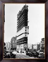 Картина Таймс-сквер во время строительства здания Таймс, Неизвестен