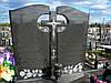 Надгробные Памятники гранитные на двоих с крестом