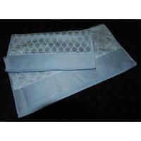 Полотенце ARYA Sahra велюр 50x100 см. 1150352 голубой