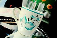Чашка Лист, бирюза