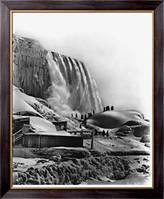 Картина Зима на  Ниагарском водопаде, Неизвестен