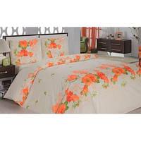 Комплект постельного белья ARYA Flora бязь полуторный 1001071 оранжевый