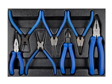 Комплект шарнирно-губцевого инструмента в лотке 7 пр KINGTONY 9-40207GP