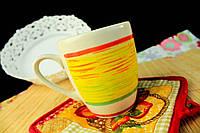 """Чашка """"Европа"""" широкая желтая полоса"""