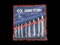 Набір ключів накидних 8шт. (6-23мм) KINGTONY 1708MR