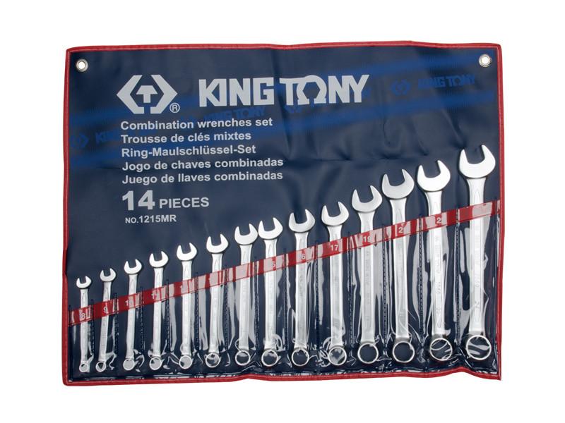 Набор ключей комби 14шт. (8-24мм) KINGTONY 1215MR