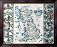 Картина Старинная карта Англии, Неизвестен