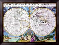 Картина Карта мира из из воды и суши, Неизвестен