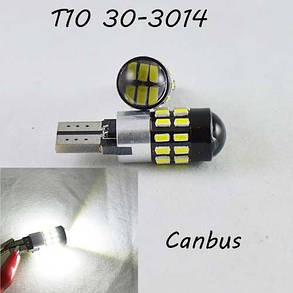 LED лампа в габарит SL LED с обманкой компьютера под цоколь W5W(T10)  30 лед типа 3014 9-30 В. 5000К, фото 2