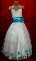 Платье бальное для девочек декориванное бантом