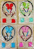 Набор для девочки, для волос с обручем, резиночками и заколками, 18 предметов.