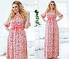 Женское платье цветы полу батальное в трёх расцветках , фото 3