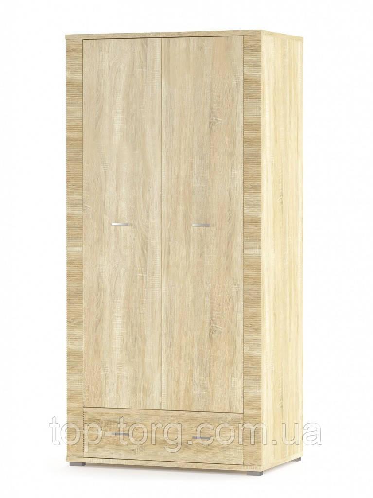 Шкаф Грейс 2Д+1Ш самоа (ширина 930мм) светлый