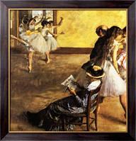Картина Балетный класс, танцевальный зал,1880, Дега, Эдгар