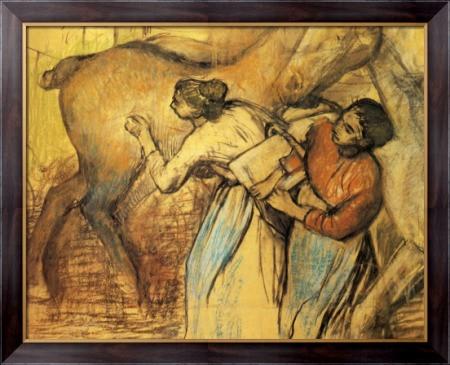 Картина Прачки и лошадь, 1902, Дега, Эдгар - Макросвит в Киеве