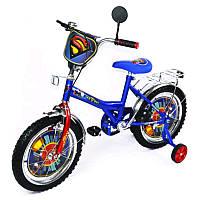 """Велосипед Супермен 16 BT-CB-0008 синий с красным, система: """"One piece crank"""""""
