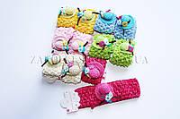 Детские украшения; Повязка для волос сеточка  с украшениями, 12 штук в упаковке