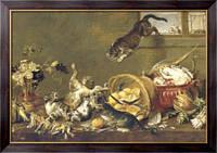 Картина Драка котов в кладовке, 1650, Вос, Корнелис де