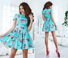 Женское платье цветы из тонкого джинса , фото 4